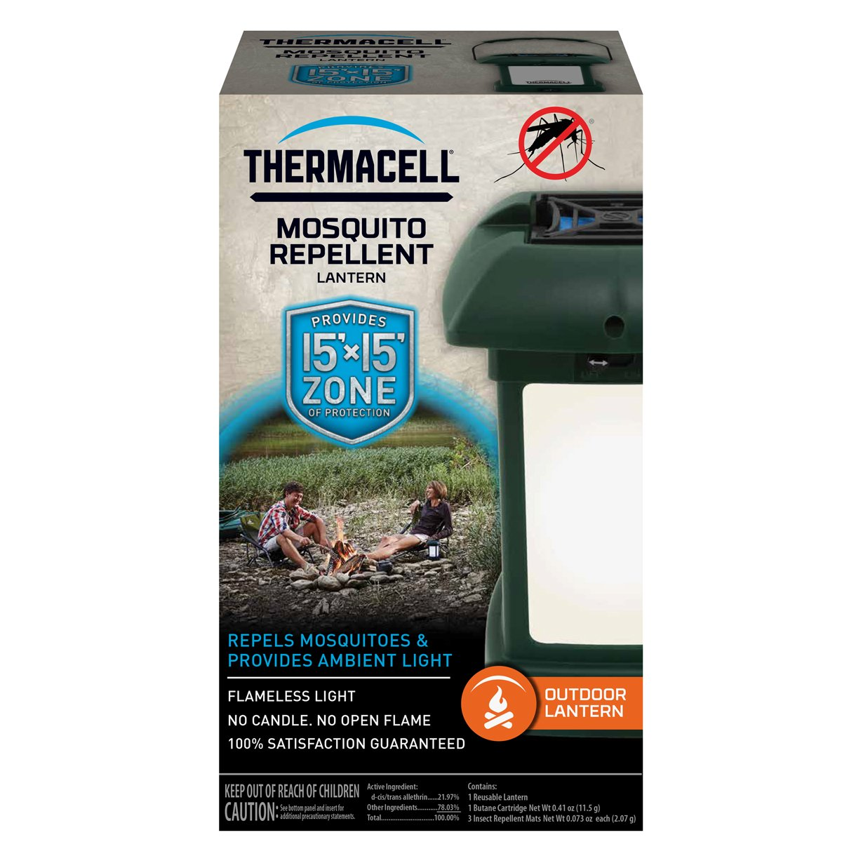 Amazon.com : Thermacell MR 9L Outdoor Mosquito Repeller Plus Lantern : Insect  Repellents : Sports U0026 Outdoors