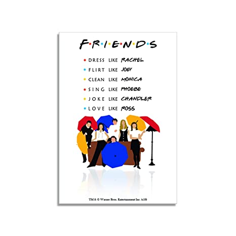 Mc Sid Razz Friends TV Series Umbrella Rectangular Fridge Magnet Birthday Gift Return Officially Licensed By Warner BrosUSA Amazonin Office