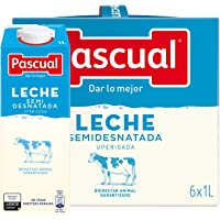 Leche Pascual Clasica Leche Semidesnatada - Paquete de 6 x 1 l - Total: 6