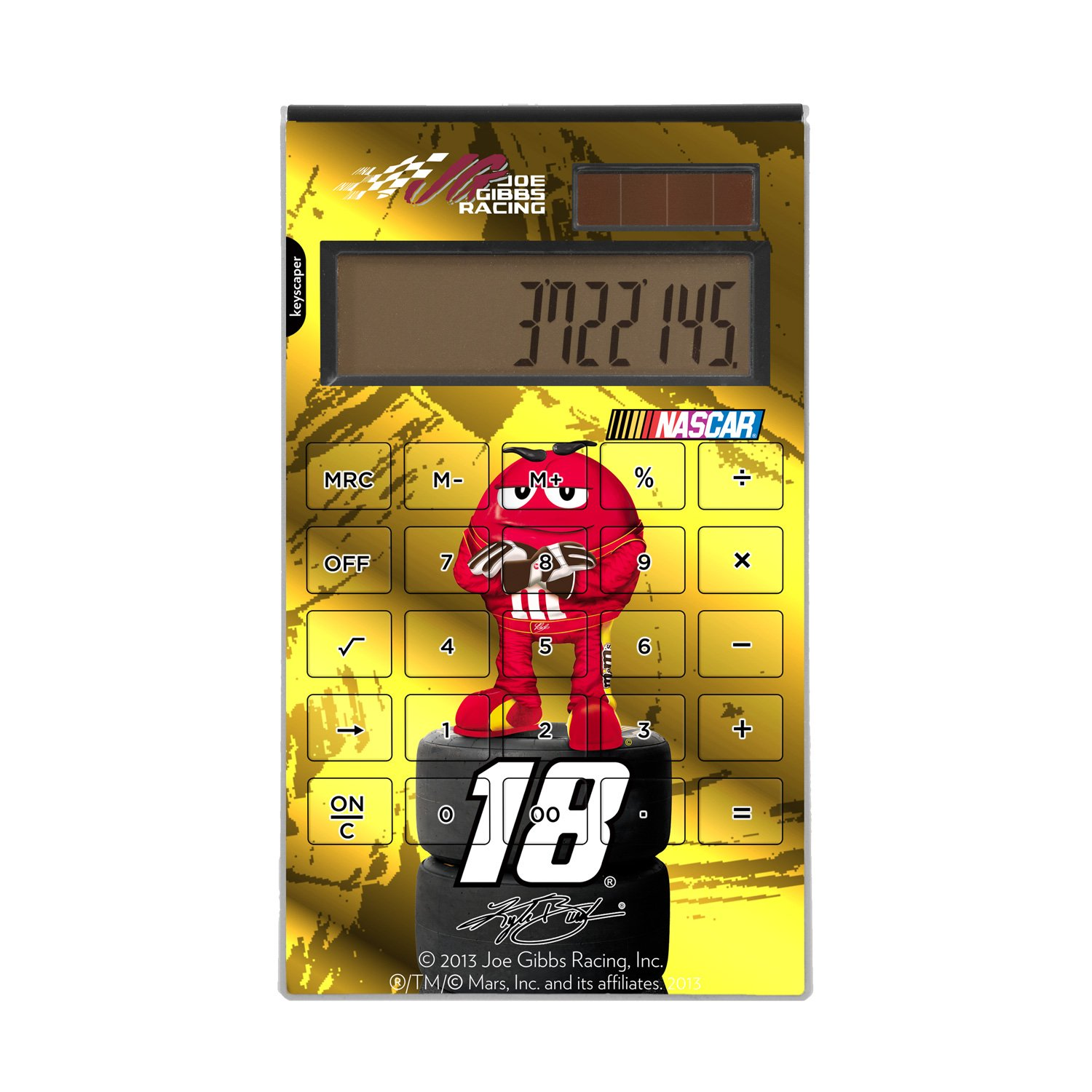 Kyle Busch Desktop Calculator officially licensed by NASCAR Full Size Large Button Solar by keyscaper® by Keyscaper