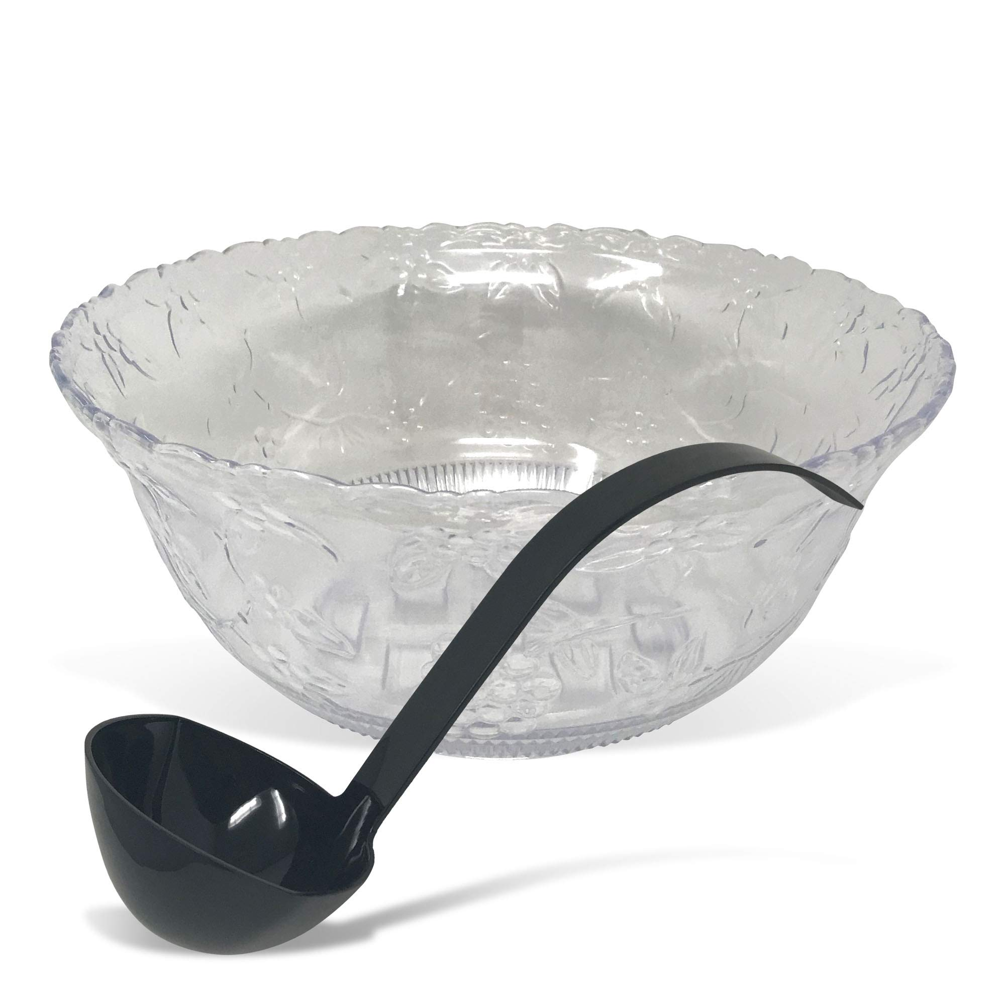 CSBD Punch Bowl 2 Gallon Premium Quality Plastic With 5 oz Ladle by CSBD