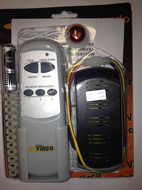 Ceiling fan remote control kit for vinco ceiling fans amazon ceiling fan remote control kit for vinco ceiling fans aloadofball Image collections