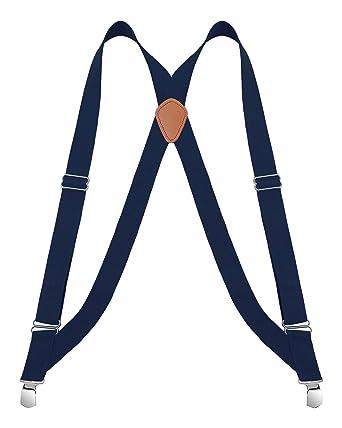 Buyless Fashion Tirantes el/ásticos y ajustables en forma de X para hombres con clips de metal de 3 cm de ancho