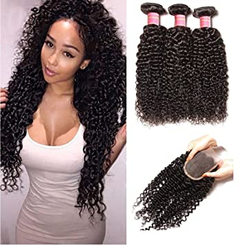 Amazon yiroo 6a brazilian curly hair extensions 3 bundles yiroo 6a brazilian curly hair extensions 3 bundles with 44 free part lace pmusecretfo Gallery
