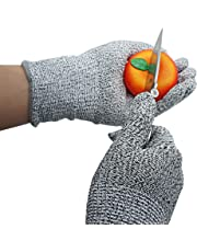 Xcellent Global Cut Resistant Gloves with Cut Level 5 Protection for Safety, Food Grade, Large HG120M