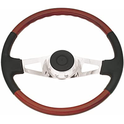 Woody's WP-SWF8901L.2 Rosewood Chrome Truck Steering Wheel (Beautiful African Hardwood): Automotive