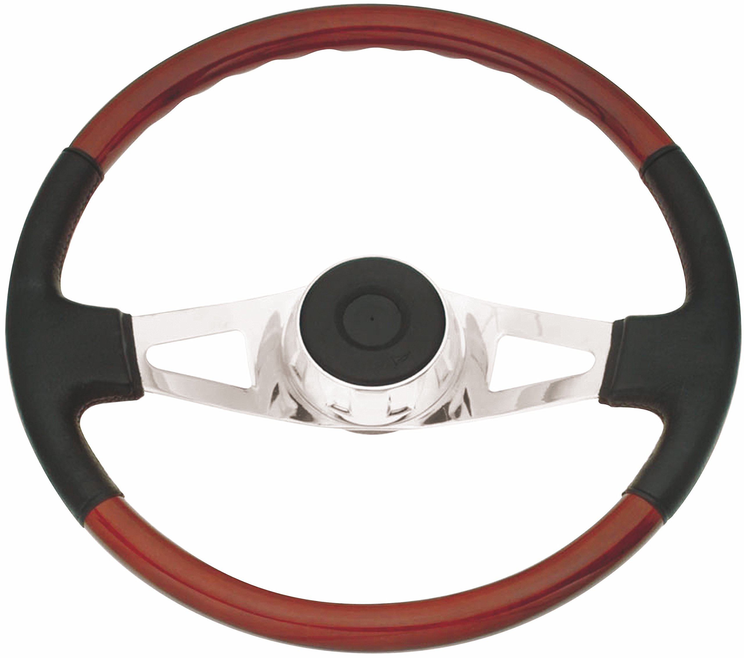 Woody's WP-SWF8901L.2 Rosewood Chrome Truck Steering Wheel (Beautiful African Hardwood) by Woody's