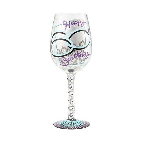 Amazon.com: Enesco gift-6000739 60 cumpleaños copa de vino ...