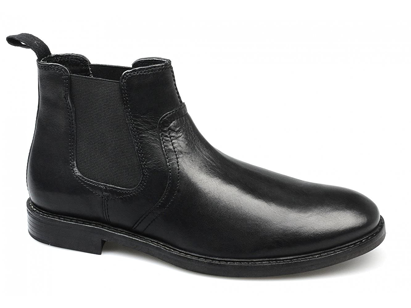 50a95dbdfd4 Red Tape NEWTON Mens Leather Chelsea Boots Black UK 9: Amazon.co.uk ...