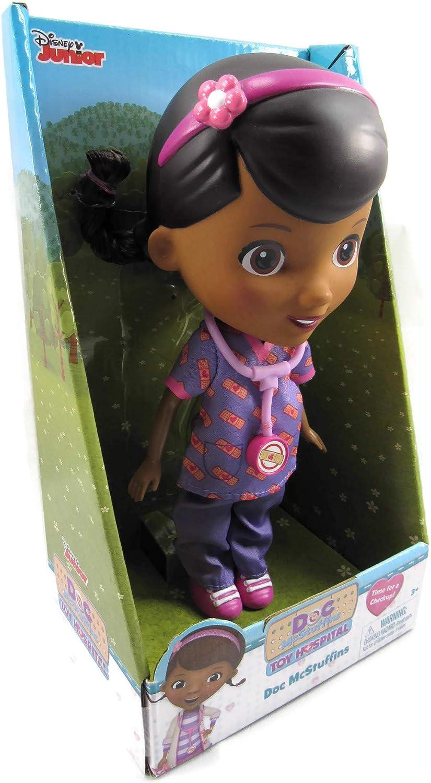 Disneq Junior Doc McStuffins Doll with Stethescope wearing Purple Scrubs