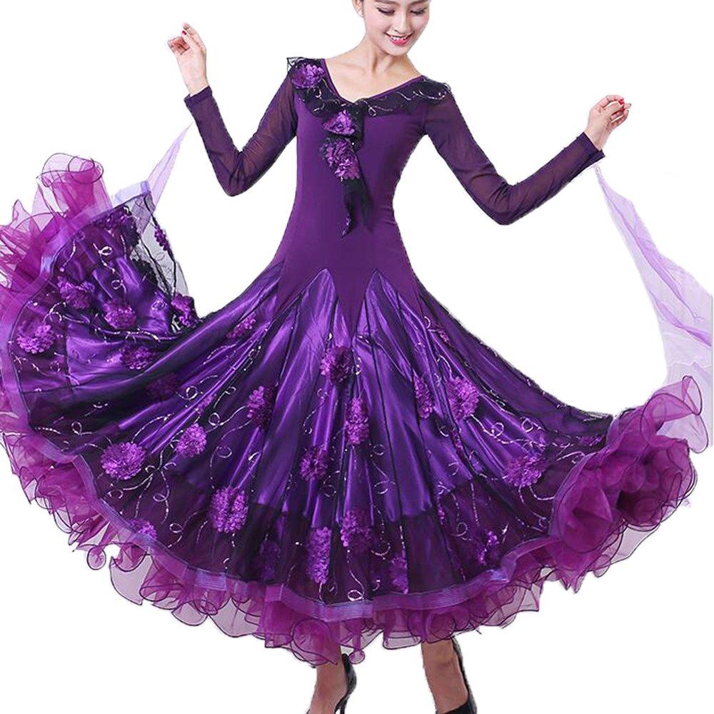 3a6995a5e0f1d オーダーメード 社交ダンスドレス ラテンドレス モダンドレス ロングスカート ダンスウエア 競技 デモ ダンス