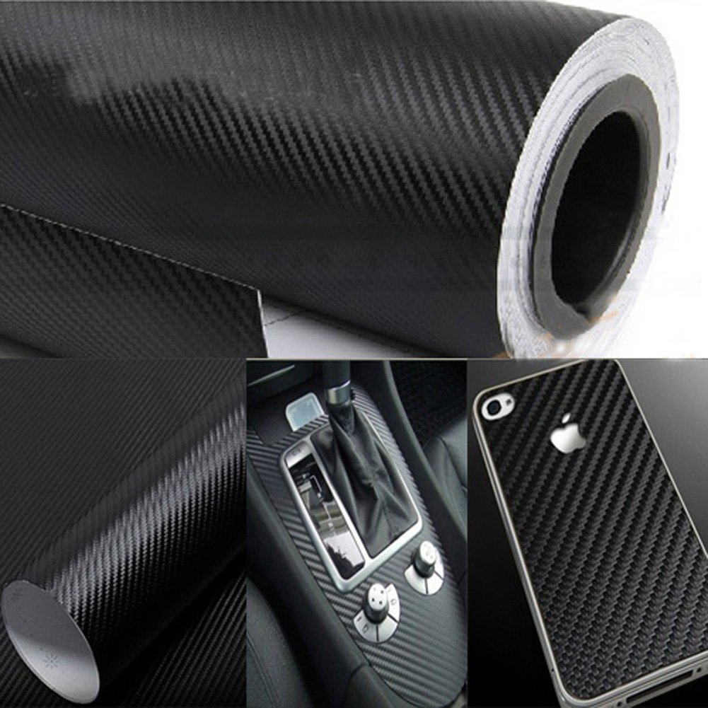 Amazoncom AutoM New DIY Carbon Fiber Wrap Roll Sticker For Car - Car decals designcheap carbon vinyl sticker buy quality carbon time directly from
