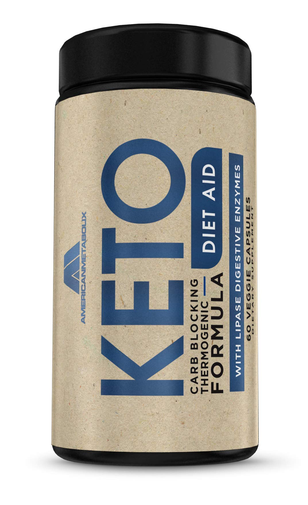 Keto Diet Aid Carb Blocking Thermogenic, Stimulant Free, Digestive Enzymes (30 Servings) by American Metabolix