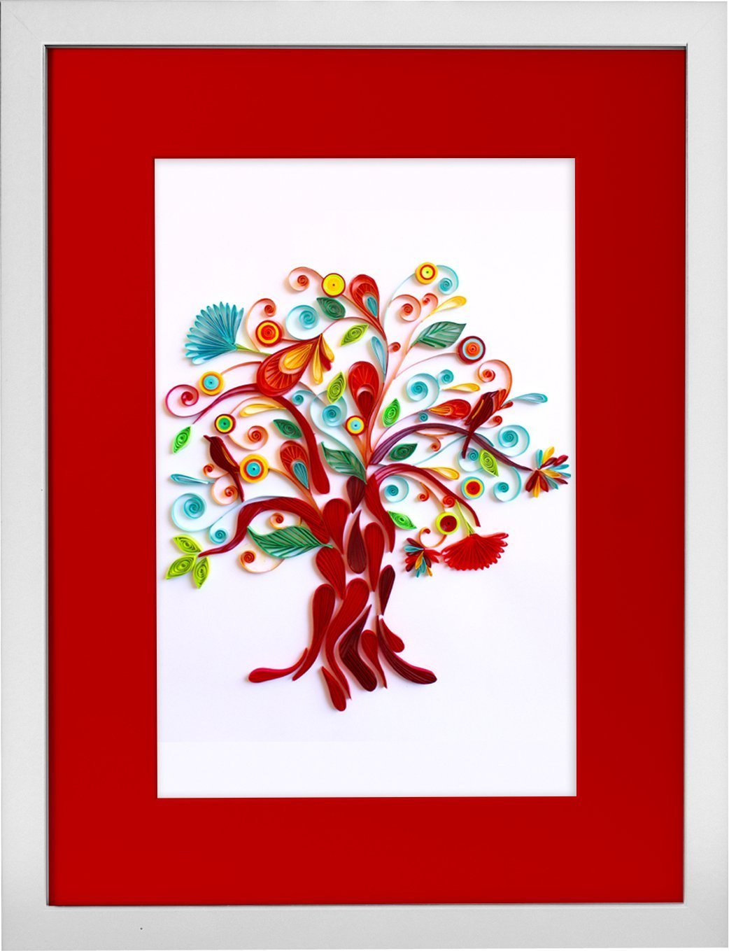 Tree of Life - Modern Paper Quilled Wall Art for Home Decor (one of a kind paper quilling handcrafted piece made with love by an artist in California)