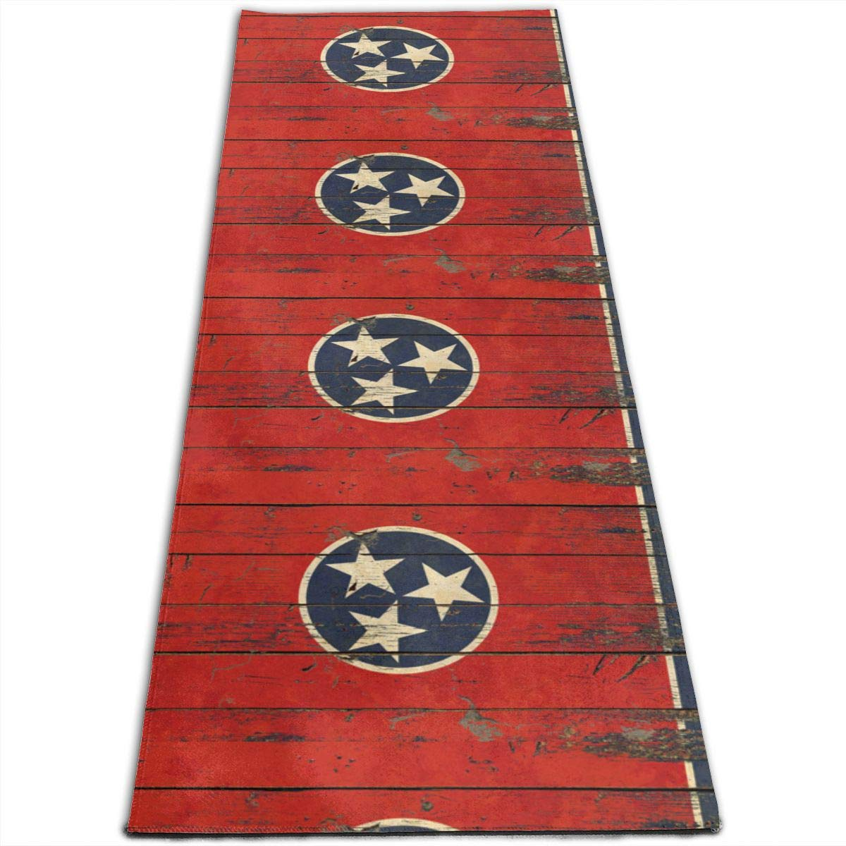 Amazon.com: Tennessee State Vintage Flag Printed Yoga Mat ...