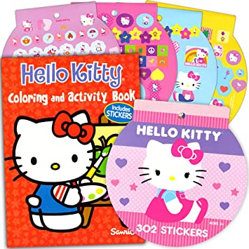 Hello kitty coloring book stickers 96 pg coloring book over 200 hello kitty