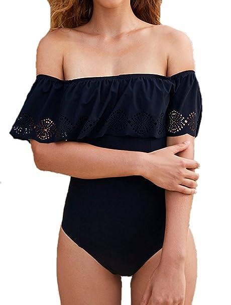 Amazon.com: PiePieBuy traje de baño sin hombros con ...