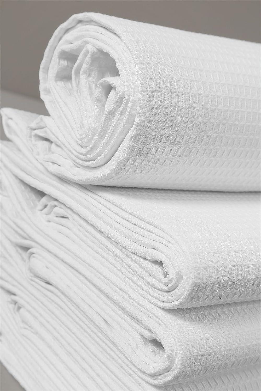 3 asciugamani viso a nido ape di puro cotone 3 pezzi bianco 60 x 110 GENERICO