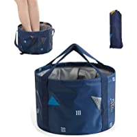 DoroSun 14L Collapsible Foot Soaking Bath Basin Bag with Handles for Kids, Portable Pedicure Feet Spa Bucket Tub for…