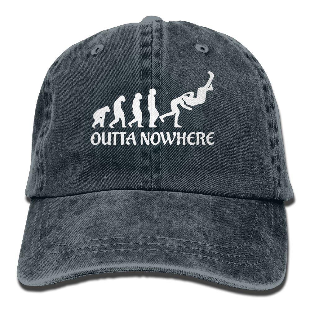 Men's/Women's Wrestling Outta No Where Denim Jeanet Baseball Cap Adjustable Hat
