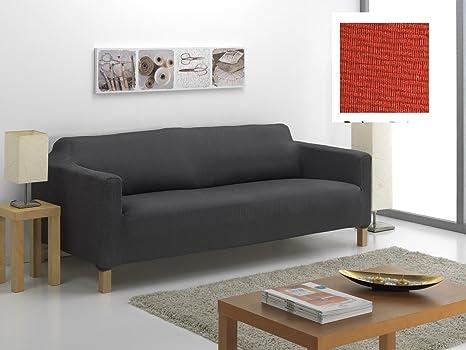 textil-home Funda de Sofá Elástica KARLSTAD, 2 plazas - Desde 130 a 180 cm. Color Teja (MODELO EXCLUSIVO FUNDA Sofá KARLSTAD IKEA)