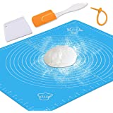 Silicone Baking Mat with Measurements – Heat Resistant, BPA Free, Non-Stick Pastry Mat for Rolling Dough – Easy to Clean…