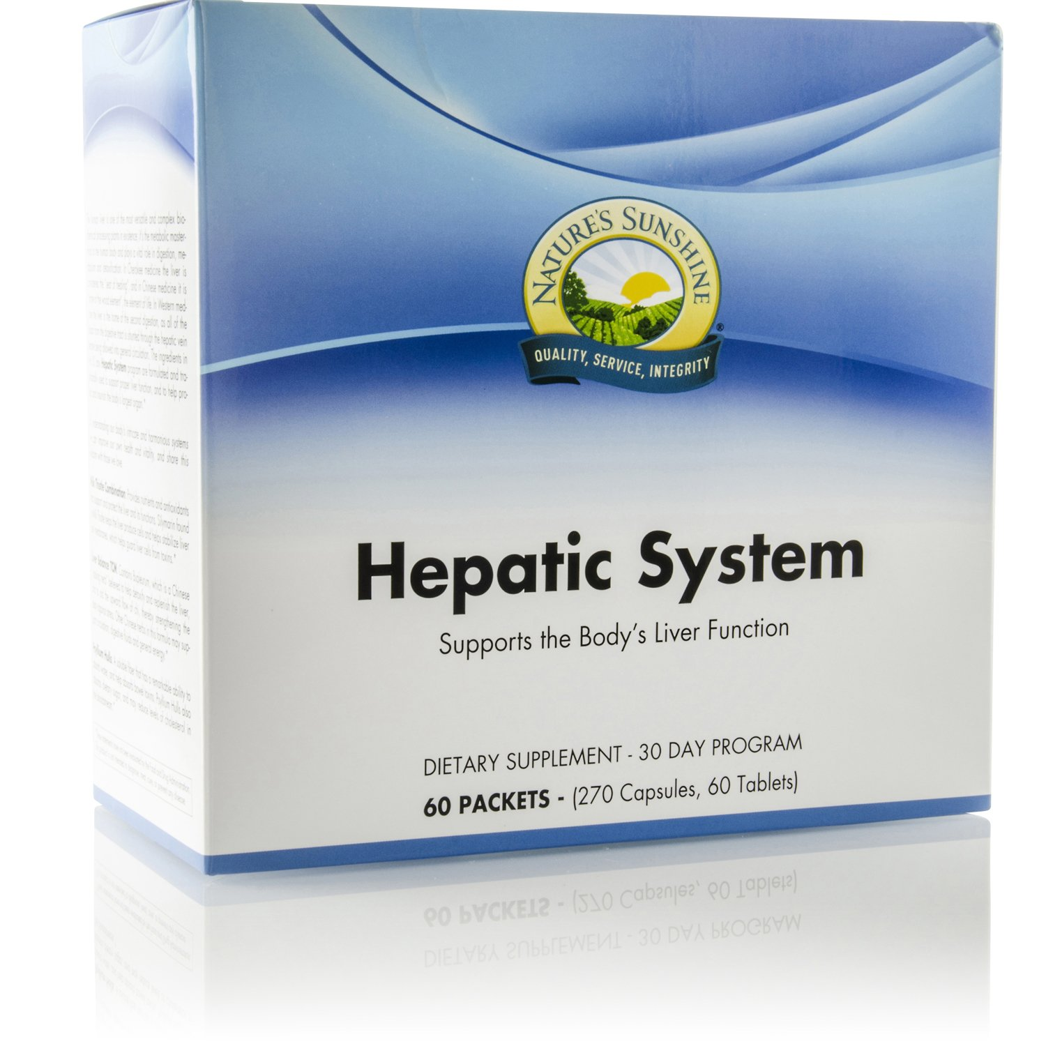 Nature's Sunshine Hepatic System, 30 Day Supply   Liver Support Supplement with Milk Thistle and Antioxidants to Cleanse and Protect Against Toxins