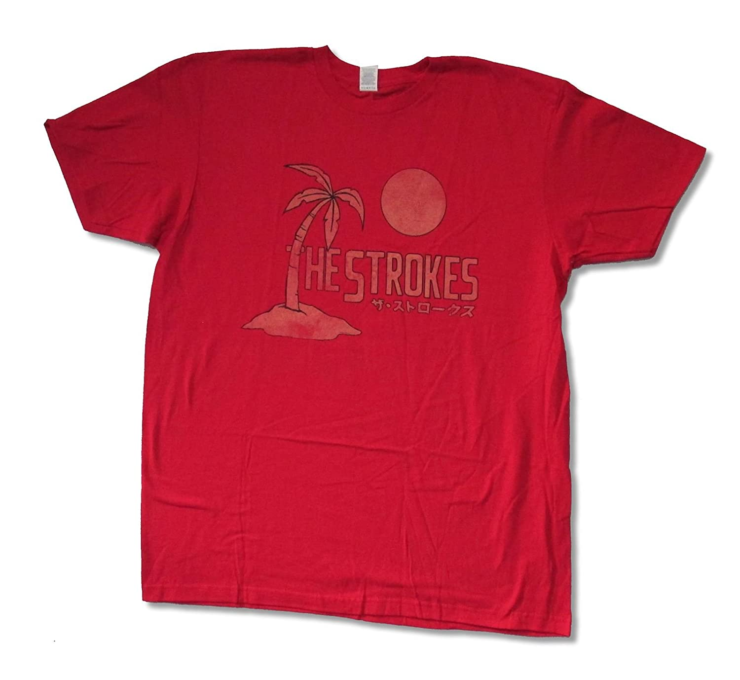 "Adult The Strokes ""Japan"" Red T Shirt"