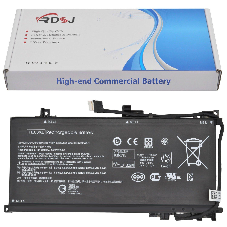 Bateria TE03XL 11.55V 61.6Wh para HP Pavilion PC 15 Omen 15-AX033DX 15-AX000 Series 849910-850 HSTNN-UB7A 849570-541 849