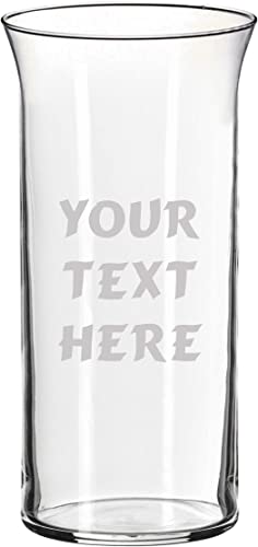 Custom Etched Glass Flower Vase – Personalized with Your Text for Valentine s, Mother s Day, Birthdays, Retirement, Teacher, Gifts