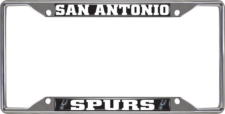 Fanmats 14892 NBA San Antonio Spurs Chrome License Plate Frame 6.25x12.25