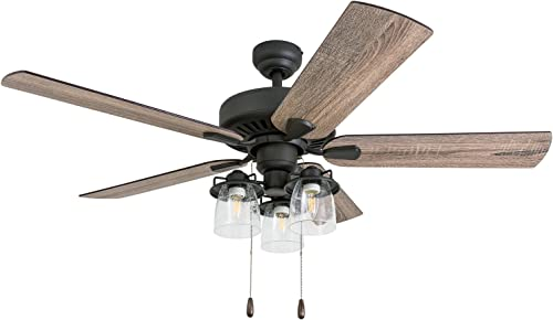Prominence Home 50585-01 Briarcrest Farmhouse Ceiling Fan, 52 , Barnwood Tumbleweed, Aged Bronze
