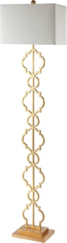 JONATHAN Y JYL3073A Selina 64.5″ Iron Ogee Trellis Modern LED Floor Lamp Bohemian,Contemporary,Designer,Glam,Transitional