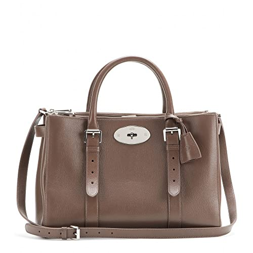 Amazon.com  Mulberry Bayswater Double Zip Tote Taupe Shiny Goat  Shoes 3c07e2b211051