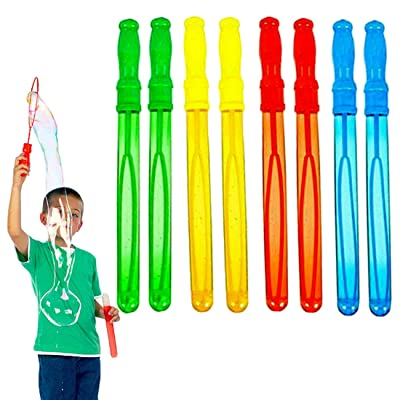 Dazzling Toys Big Bubble Wand Assortment - Super Value Pack of Summer Toy Party Favor (6 Pack): Toys & Games [5Bkhe0705815]