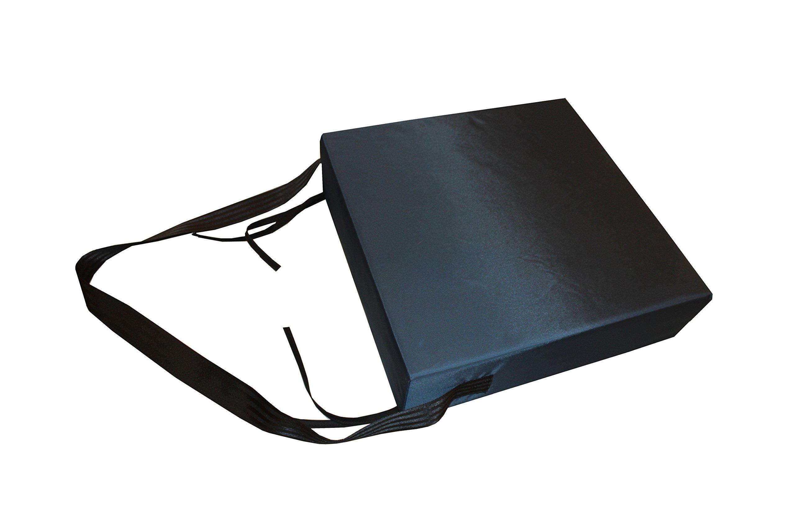 Rehabilitation Advantage Premium Seat Cushion 4 inch X 15 inch X 15 inch with Removable Cover by Rehabilitation Advantage