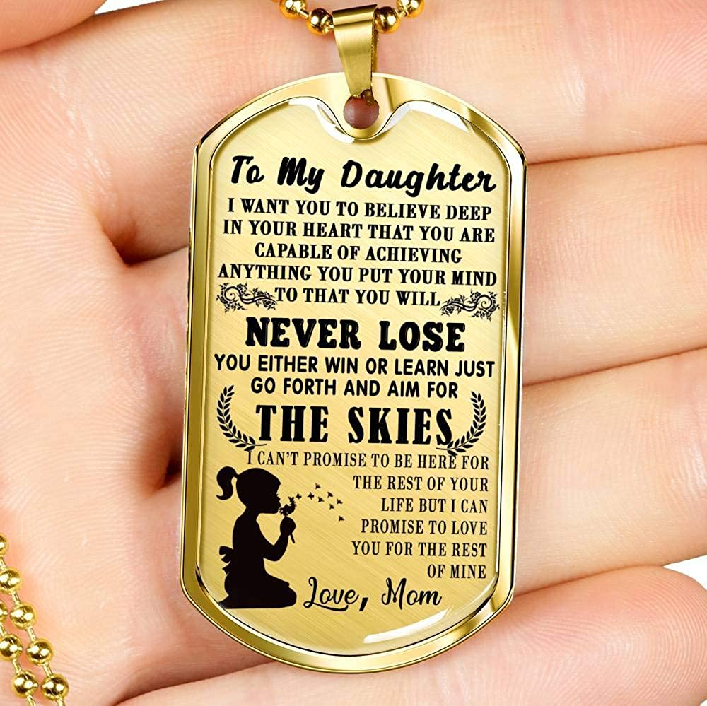 Perfect Girls/' Jewelry Motivational Birthday Gift for Children On Christmas Day AZ Gifts Luxury Necklace Awesome Gift for Girls to My Daughter Necklace Chain Love You for The Rest of Mine