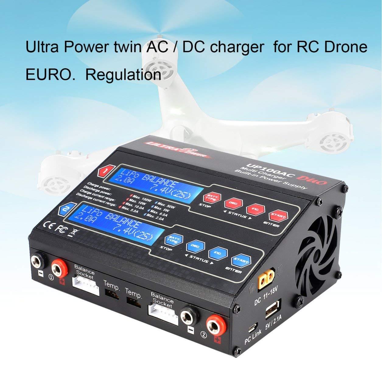 Dailyinshop Ultra Power UP100AC 100W zyklisches LiIo / LiPo / Life / NiMH / Nicd-Ladegerät (Farbe: Schwarz)