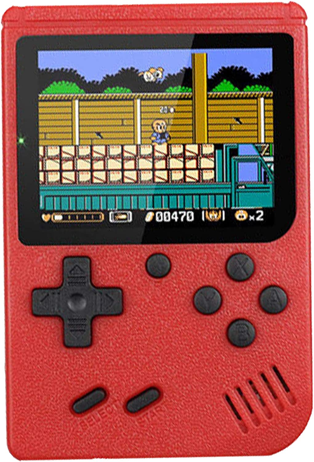 RFiotasy Retro Game Machine Handheld Game Console with 400 Classical FC Game ConsoleSupport for Connecting TV Gift Birthday for Kids and Adult (ZJ-red)