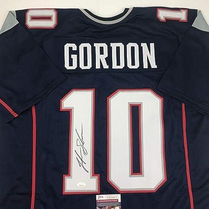 pretty nice ada39 95264 Josh Gordon Autographed Jersey - Blue COA - JSA Certified ...