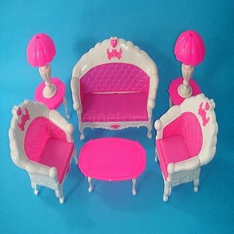 Amazon.com: Dolls House Living Room Furniture Sofa End Table Floor ...