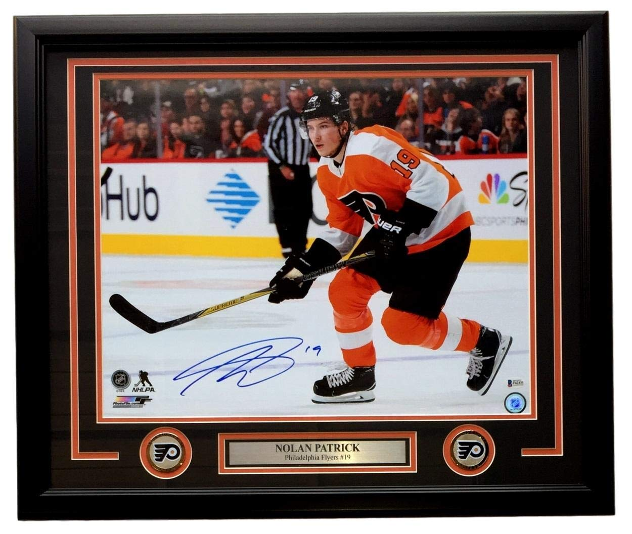 Nolan Patrick Signed Framed 16x20 Philadelphia Flyers Photo BAS
