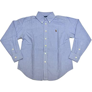 5be5cba6 Image Unavailable. Image not available for. Color: Ralph Lauren Boys Oxford Button  Down Long Sleeve Dress Shirt ...
