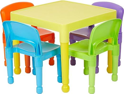 Tavolo In Plastica Con Sedie.Liberty House Toys Tavolo Per Bambini Con 4 Sedie Plastica