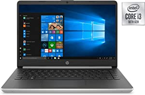 """HP 14 Series 14"""" HD SVA BrightView WLED-Backlit Laptop, Intel 10th Gen Core i3-1005G1 up to 3.4GHz, 8GB DDR4, 256GB SSD, USB 3.1-C, Webcam, 802.11ac, Bluetooth, HDMI, Windows 10 Home in S Mode"""
