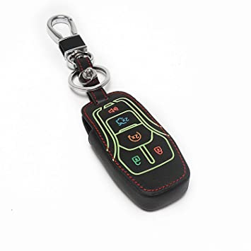 Amazon Com Auovo Leather Keyless Entry Remote Case Key Fob Holder