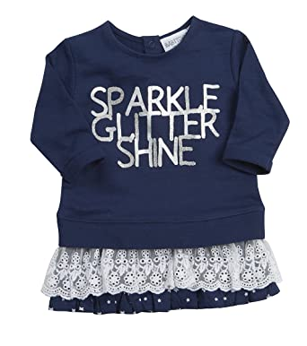 6932b05483d7 Babytown Baby Girl New Cotton Glitter Party Outfit Top Jumper Lace ...