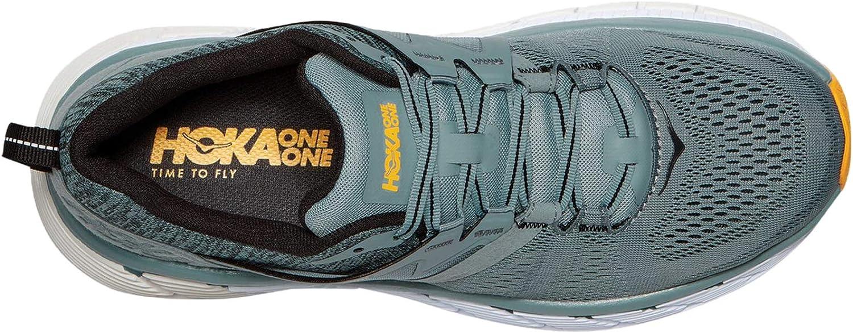 HOKA ONE ONE Mens Gaviota 2 Walking Shoe Lead/Anthracite