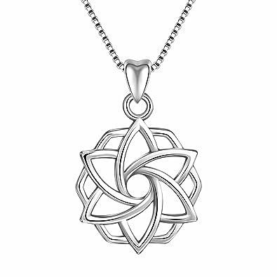 Amazon Angemiel 925 Sterling Silver Good Luck Irish Celtic Knot