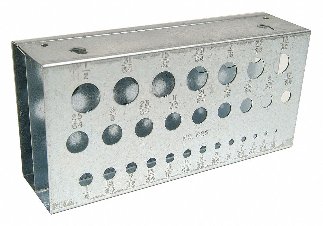 Steel Drill Stand, 2-5/8'' D X 1-1/2'' H X 5-5/8'' W, Jobber, Stub Length